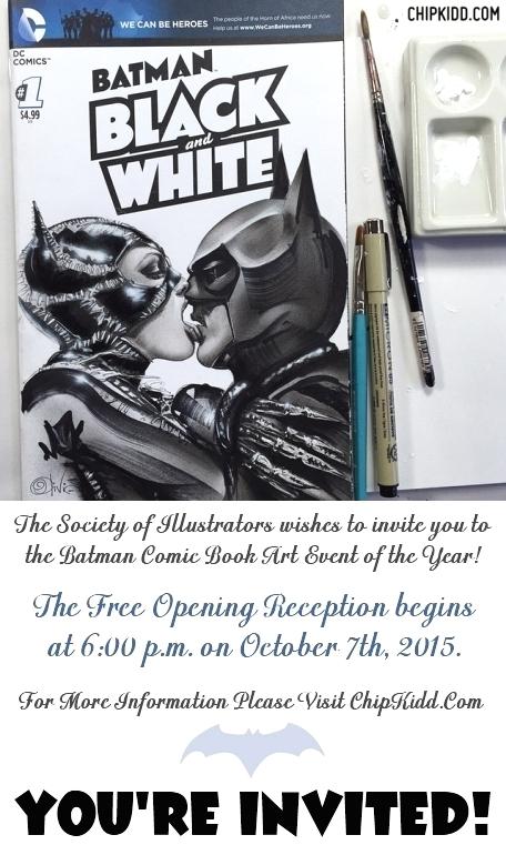 Batman Chip Kidd Art 2015 Art Show Reception8