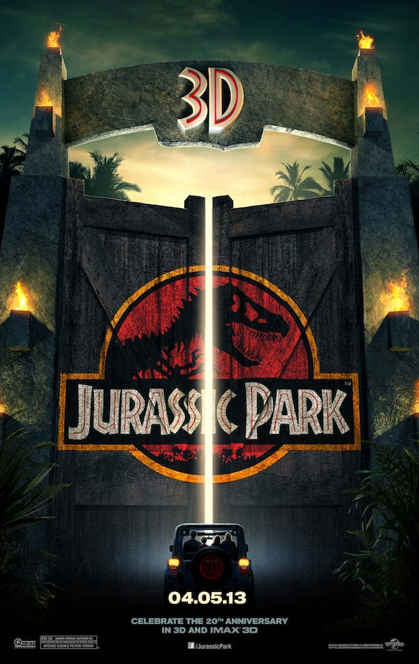 Jurassic Park 3D Movie Poster Dinosaur Chip Kidd Logo