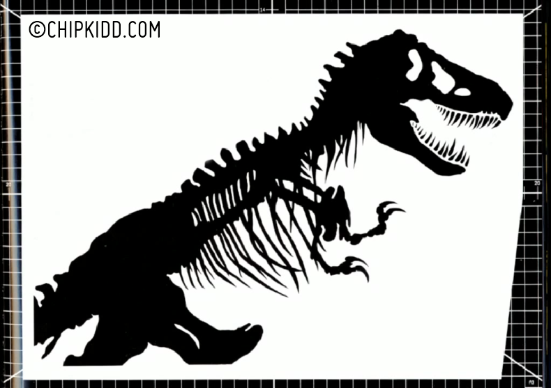 Jurassic Park Movie Logo Chip Kidd Dinosaur