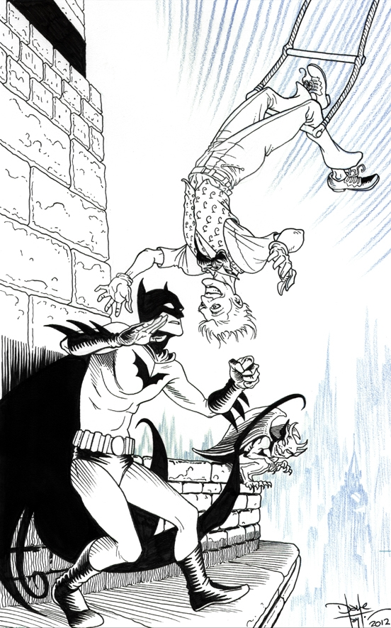 Dave Taylor Comic Book Convention Batman Joker Art Artwork