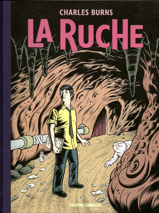 la ruche charles burns french the hive book cover graphic novel
