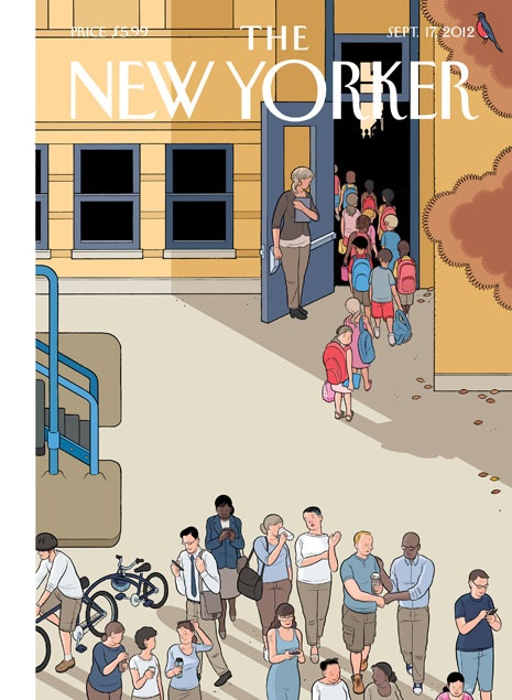 Chris Ware Art THE NEW YORKER Magazine Cover Artwork