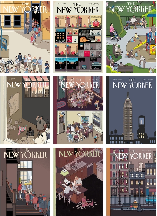 Chris Ware THE NEW YORKER Magaine Covers