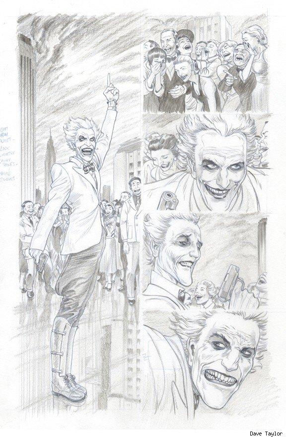 Batman Death By Design The Joker Dave Taylor Comic Book Art 3