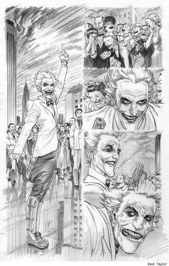 Batman Death By Design The Joker Dave Taylor Comic Book Art 4