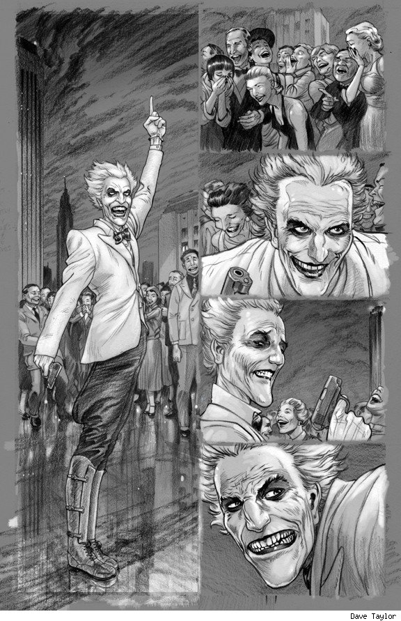 Batman Death By Design The Joker Dave Taylor Comic Book Art 5