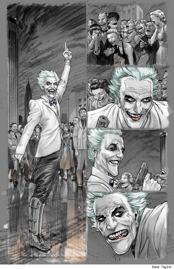 Batman Death By Design The Joker Dave Taylor Comic Book Art 6