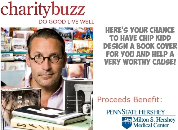 Charity Buzz - Have Designer Chip Kidd design a Book Cover for you!
