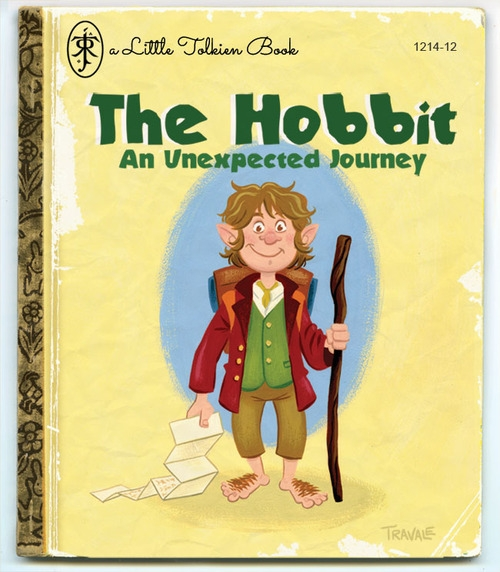 The Hobbit J J R Tolkien Little Golden Book Parody Book Cover