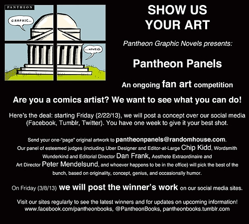 Pantheon Panels Graphic Novel Book Art Contest