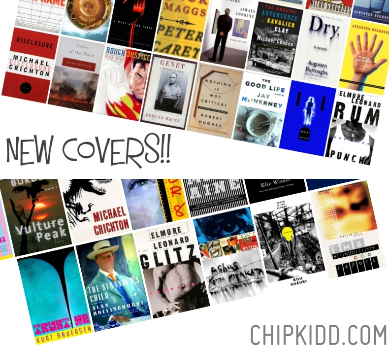 Designer Chip Kidd Book Covers and Jacket Designs