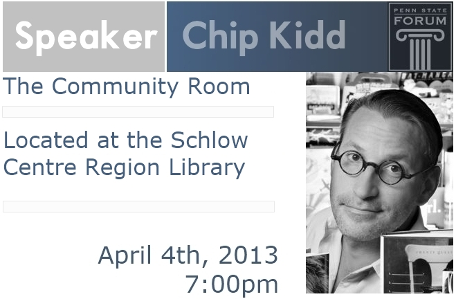 Penn State University Chip Kidd Book Graphic Design Speaking Lecture