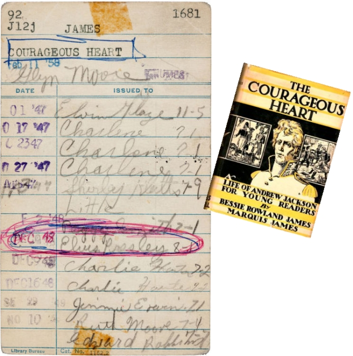 Elvis Presley Book Library Card Signature Autograph