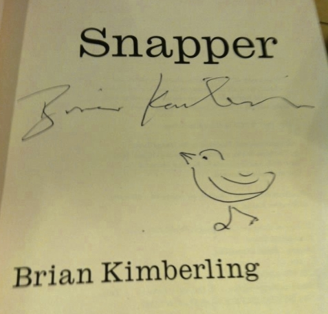 Snapper Book Brian Kimberling Signed Copy Autographed