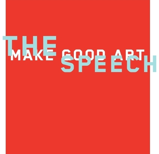 Chip Kidd Neil Gaiman MAKE GOOD ART Speech Book