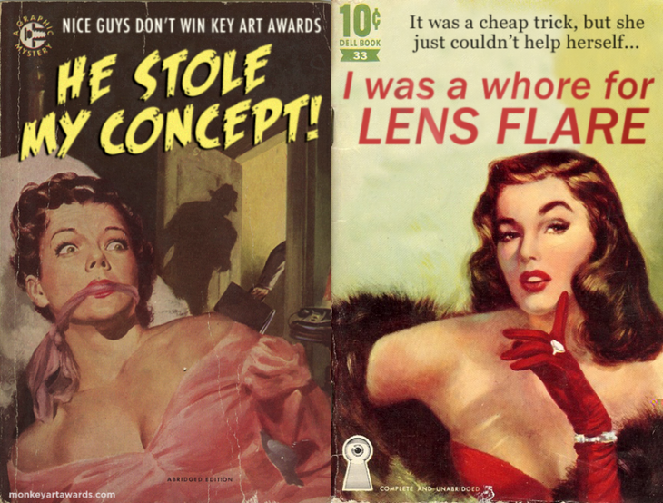 monkey art awards funny pulp paperback book cover humor 1