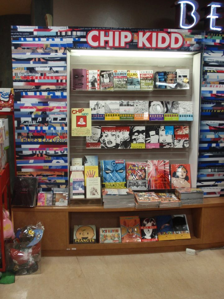 Chip Kidd Books on Display in a Japanese Bookstore in Japan!