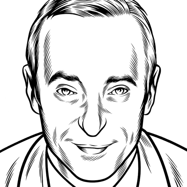 Charles Burns Portrait Art David Sedaris