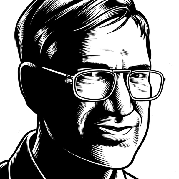Charles Burns Portrait Art Orhan Pamuk