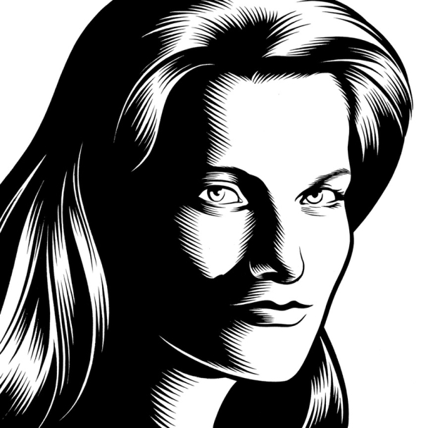 Charles Burns Portrait Art Jennifer Egan