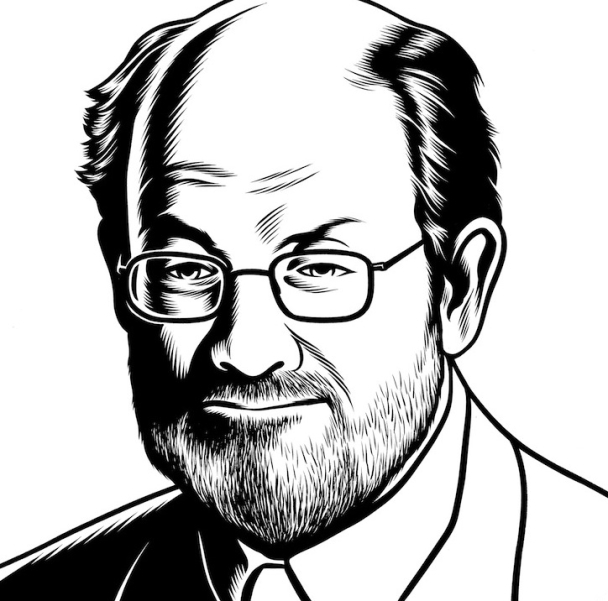 Charles Burns Portrait Art Salman Rushdie
