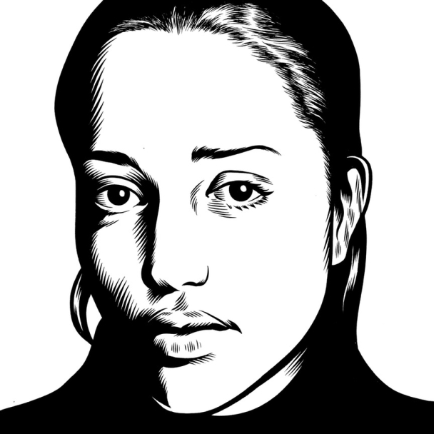 Charles Burns Portrait Art Zadie Smith