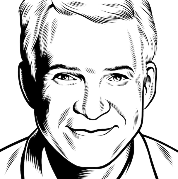 Charles Burns Portrait Art Steve Martin