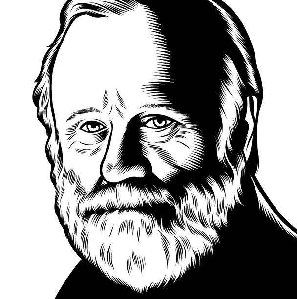 Charles Burns Portrait Art Frank Herbert