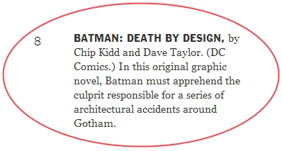 Batman Death By Design Chip Kidd Dave Taylor Graphic Novel