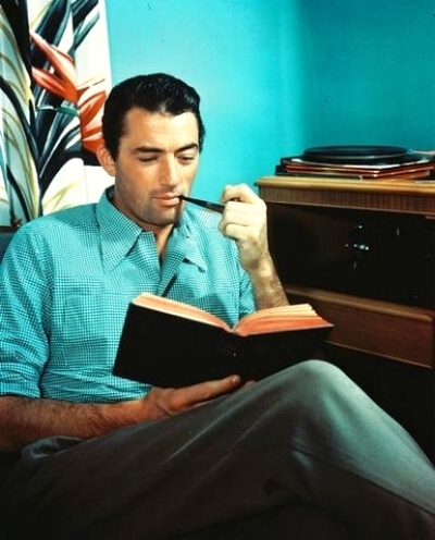 Awesome People Reading Books Gregory Peck