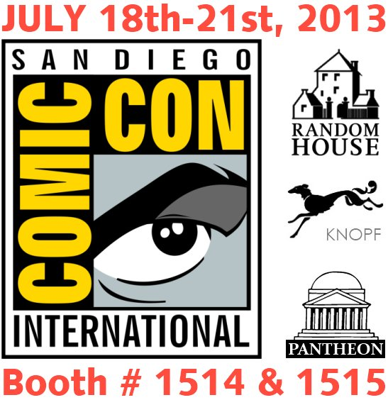 2013 San Diego Comic-Con SDCC Random House Books