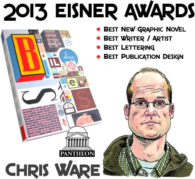 2013 Eisner Awards Chris Ware BUILDING STORIES Graphic Novel Pantheon Book