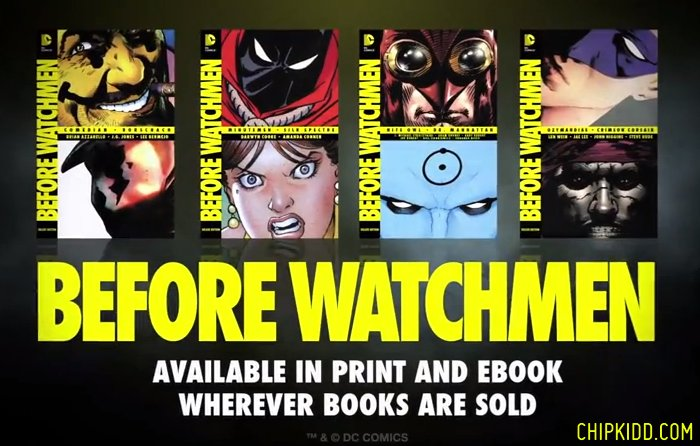 DC Comics BEFORE WATCHMEN Deluxe Edition Chip Kidd Book Covers