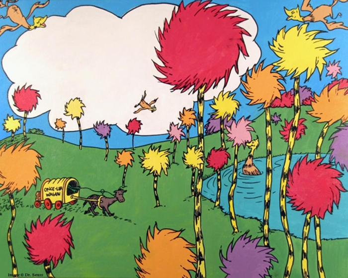 Dr. Seuss THE LORAX Book Art Exhibit