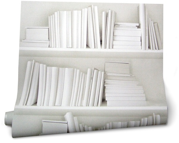 Wallpaper White Bookcase Book Covers Books 2