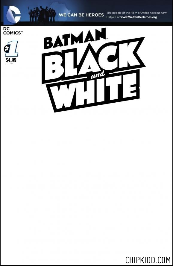Cover 4 BATMAN Black and White 1 DC Comics