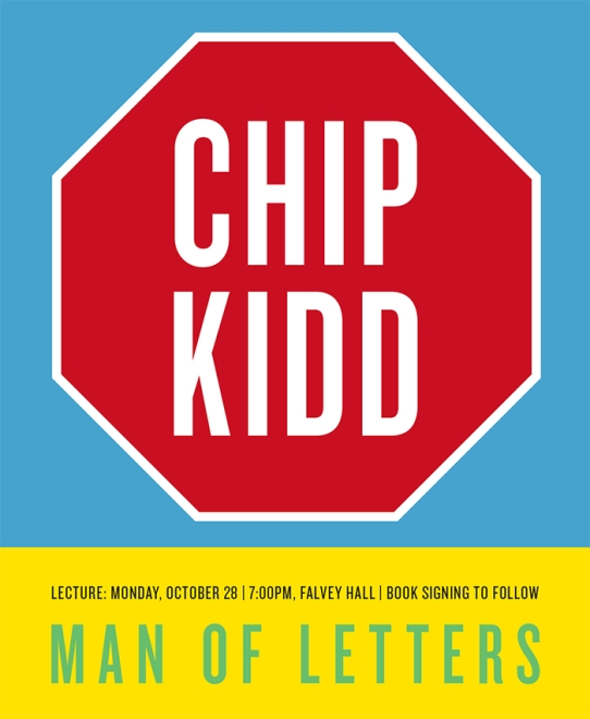 Poster CHIP KIDD Man of letters MICA College