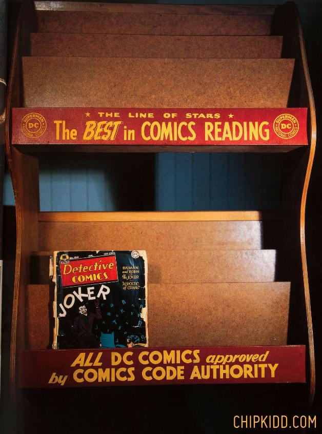 HAKES Chip Kidd Auction Comic Book Rack in Batman Collected