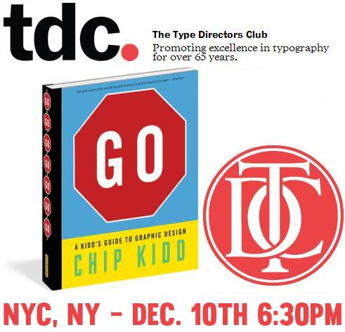 Type Directors Club TDC Chip Kidd GO Book Signing