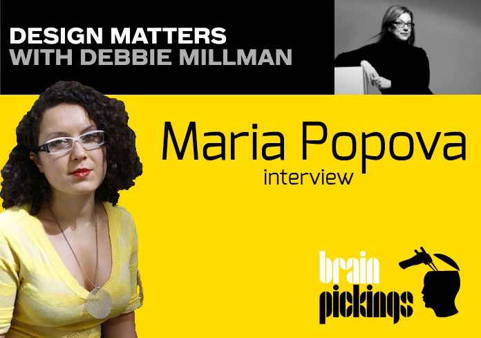 Maria Popova DESIGN MATTERS with Debbie Millman Podcast