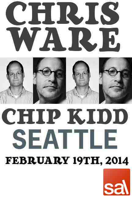 Seattle Arts 2014 Chip Kidd Chris Ware Lecture Poster