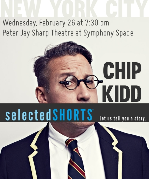 Chip Kidd Book Cover Design Lecture NYC, NY Feb. 26th