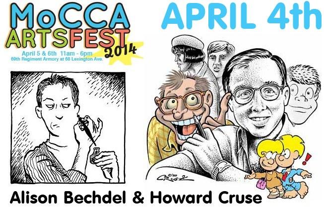 Alison Bechdel Howard Cruse Chip Kidd Mocca Festival 2014